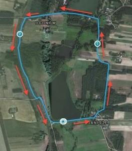 Trasa konkurencji - rower